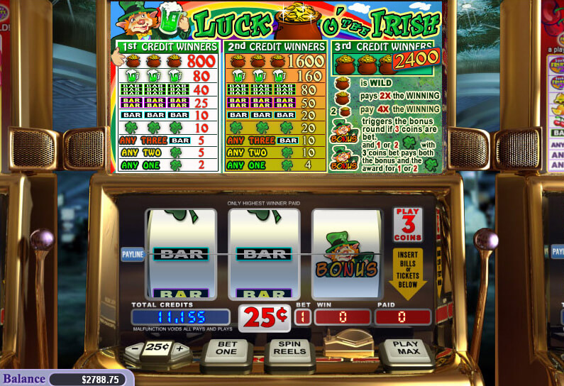 Play Luck O' the Irish Slots now!