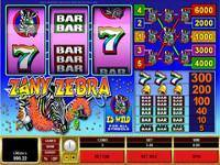 Play Zany Zebra Slots now!